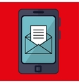 smartphone and envelope isolated icon design vector image