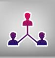 social media marketing sign purple vector image vector image