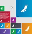 socks icon sign buttons Modern interface website vector image vector image