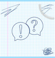 speech bubbles with question and exclamation marks vector image vector image
