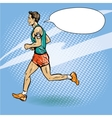 Sportsman running concept in vector image vector image