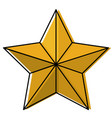 star award flat icon watercolor silhouette vector image vector image