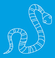 striped snake icon outline style vector image vector image