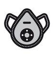 symbolic safe mask icon vector image