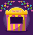 tent sale ticket with garlands vector image vector image
