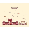 Thane skyline silhouette linear style vector image vector image