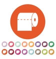 The toilet paper icon Towel and closet restroom vector image vector image