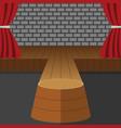 theatrical scene performance stage podium vector image