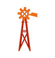 traditional farm windmill turbine technology vector image vector image