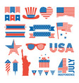 usa independence day design elements for various vector image