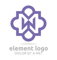 violet element w purple design symbol icon vector image