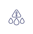 water contamination line icon on white vector image vector image