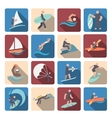 Water sports icons set colored vector image vector image
