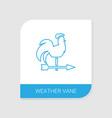 weather vane icon white background vector image vector image