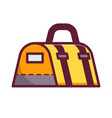 yellow sport bag icon vector image vector image