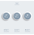 Glossy plastic buttons for infographic vector image