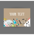 Set icons design and art on table vector image