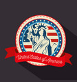 statue of liberty sticker vector image