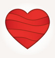 abstract heart shape love concept vector image vector image