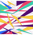 abstract modern colorful lines triangle vector image vector image