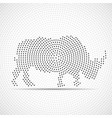 abstract rhinoceros dots rhino circles vector image