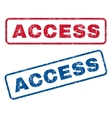 Access Rubber Stamps vector image vector image