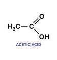 acetic acid formula vector image vector image