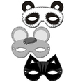 animal mask design vector image vector image