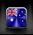 Australia flag national travel icon country symbol vector image