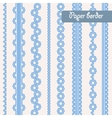 Baby shower set of border for boy vector image vector image