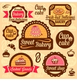 bakery goods labels vector image vector image