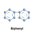biphenyl is an organic compound vector image vector image