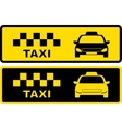 black and yellow taxi symbol vector image
