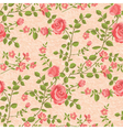 Bloomen roses seamless pattern vector image