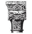 capital convexity vintage engraving vector image vector image