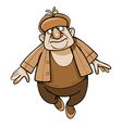 cartoon man in a padded jacket and a fur hat vector image vector image