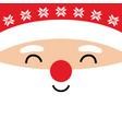 christmas greeting card with santa claus vector image vector image