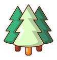 coniferous forest icon cartoon style vector image vector image