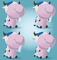 Cow Cartoon Hold Milk Product vector image
