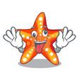 crazy underwater sea in the starfish mascot vector image vector image