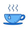 cup of tea line icon vector image vector image