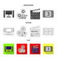 design of television and filming logo set vector image