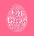 easter egg greeting card with word cloud vector image vector image