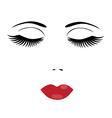 eyes lips vector image