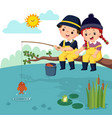 fisherman kids vector image