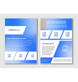 flyer design with blurred background vector image vector image