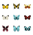Flying butterfly icons set flat style vector image vector image