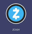 golden zcash cryptocurrency coin isolated on vector image