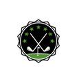 golf club academy vector image vector image
