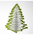 Green paper Christmas tree vector image